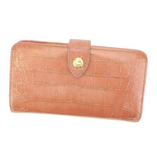 miumiu Wallet Purse Long Wallet Pink Gold Woman Authentic Used N313