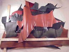 Leather Hide Panel Scrap 3-1/2 Lb Nubuck Smooth Distressed American Cowhide #M21