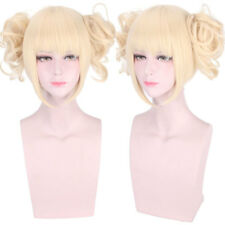 1X Anime My Boku no Hero Academia Himiko Toga Light Blonde Ponytail Cosplay Wig