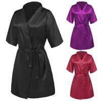 Sexy Fashion Satin Lace Silk Lingerie Sleepwear Nightwear Robe G string Babydoll