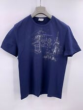 Ferre Milano Tshirt For Men In Blue Embroider Graphics Size 56/XL Slim Fit (A-2)