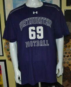 Northwestern Wildcats Under Armour Team Issue Football Performance Shirt 2XL XXL