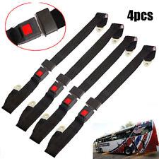 4Pack Universal Truck Car Lap Seat Belts 2 Point Adjustable Single Seat Lap