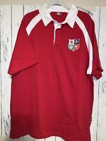 Vintage British & Irish Lions 1971 Retro Rugby Polo Mens XXL Red Short Sleeve