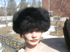 Fit Size 22 Inches Men Women opossum black Fur Hat top gray material