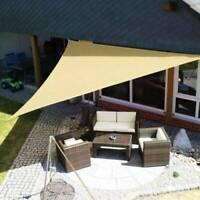 Sun Shade Sail Waterproof Garden Patio UV Block Cover Triangle Patio Canopy Pool