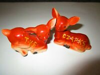 PAIR VINTAGE SALT PEPPER SHAKERS  OZARK SOUVENIR  Made in Japan