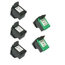 Remanufactured Ink Cartridges 3x for HP 74 CB335W Black + 2x HP 75 CB337W Color