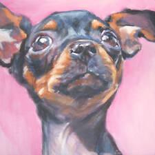 CHIHUAHUA dog portrait art canvas PRINT of LAShepard painting LSHEP 8X8