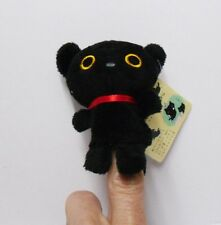 San-X Plush Kutusita Nyanko Neko Black Cat Finger Puppet Toy Cell Phone Charm