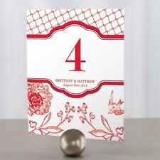 Personalized French Whimsy Wedding Table Numbers