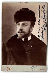 Albert LAMBERT fils Photographie dédicacée et signée à Chabert NADAR