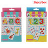 36pcs Baby Literacy Card Learn English Word Number Educational Cardyu