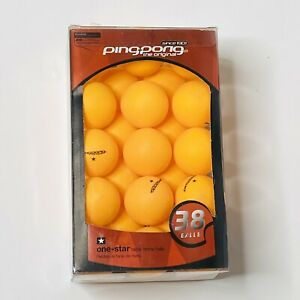 Pingpong One Star Orange 40mm Ping Pong Balls 38 Count NIB For Table Tennis