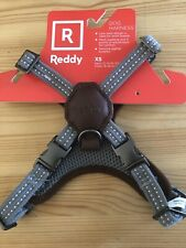 NEW REDDY dog Harness Size XS Adjustable Grey/Brown /leather/metal buckle