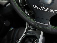 Para Audi 80 Cabrio 91-96 Cubierta del Volante Cuero Verdadero verde doble puntada