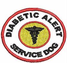 Diabetic Alert Service Dog Patch Round Dog Vest Patch Crest Working Dog White