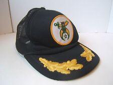 Shrine Patch Snapback Mesh Trucker Cap Black Gold Baseball Hat