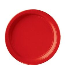 8pk Apple Red Paper Solid Colour Plates Wedding Tableware Party Supplies Colours