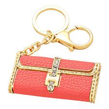 Red Clutch Purse Fashionable Sparkling Charm Elegant Keychain