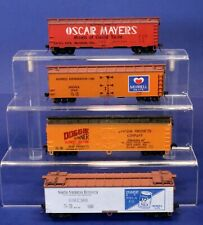 Lot of 4 RTR HO Scale Reefer Boxcars