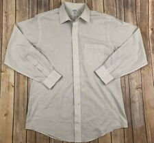 BROOKS BROTHERS Slim Fit Non-Iron Shirt 16-33 White Checked Long Sleeve