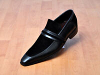 Handmade mens leather shoes, Men formal slip on leather moccasin dress shoes