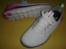 Skechers Turn Knit, Memory Foam Faux Lace Slip-On Sneakers Women's 8.5 M Natural