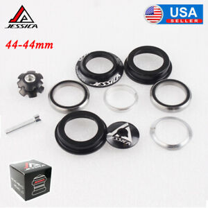 "44mm MTB Bearing Headsets 1-1/8"" Threadless Road Bike Bicycle Fork Steerer Parts"