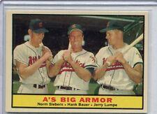 1961 Topps Card A's Big Armor Sieburn, Bauer & Lumpe Near Mint # 119