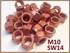 10 Stück Kupfermutter M10 SW14 Thermag DIN 14441 Turbolader Krümmer mit Schlitz