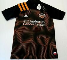 2020 Adidas Houston Dynamo MLS Black Away Jersey Authentic MENS SMALL EH8638