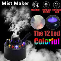 Halloween Mist Maker Smoke Fog Machine 12 LED Color Changing Party Festival Prop