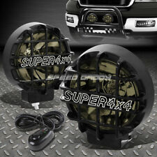 "6"" ROUND BLACK HOUSING SMOKED FOG LIGHT/OFFROAD SUPER 4X4 GUARD WORK LAMP+SWITCH"