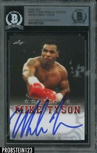 Mike Tyson Signed 2020 Leaf Boxing Special Edition AUTO BGS BAS Authentic