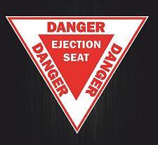 Autocollant sticker voiture avion aviation aeroport ejection seat danger