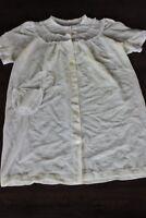 ORIGINAL Vintage 60s dress cream lace pinup rockabilly 10 12 S M bed jacket