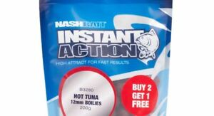 Nash Bait - Instant Action Hot Tuna -*3 for price of 2* -12/15mm Boilies 200g