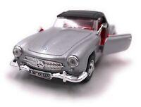 Mercedes Benz Modellauto mit Wunschkennzeichen 190 SL Oldtimer Silber 1:34