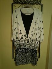 Cathy Daniels Sweater and Skirt Set New with Tags Black and White Size 1X