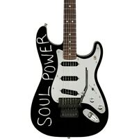 "Fender Tom Morello ""Soul Power"" Stratocaster Electric Guitar Black"