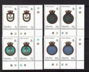 Gibraltar 1983 Royal navy Emblems set cylinder MNH mint stamps
