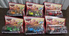 6-SET PIT ROW RACE-OFF Disney Pixar Cars World WoC Launcher King Octane Gain NEW
