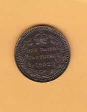 More details for 1902 edward vii third farthing in near mint condition.