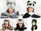 New Unisex Plush Cartoon Animal Winter Hat Cap Earmuff Long Warm Scarf Mittens