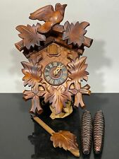 Vtg Regula Germany Carved Black Forest Wood Classic Cuckoo Clock