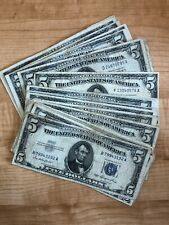 1953 Series Five Dollar Silver Certificate - One Note Per Purchase Average Cert