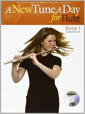 A NEW TUNE A DAY FOR FLUTE BOOK 1-MUSIC BOOK/CD-BRAND NEW ON SALE-50% OFF-RARE!!