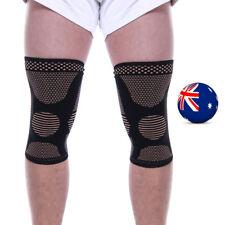 Knee Support Brace Pad Breathable Sport Arthritis Compression Sleeve Weaving AU