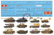 Peddinghaus 1/72 DAK Afrika Korps Tank & Vehicle Markings #4 (12 vehicles) 2671